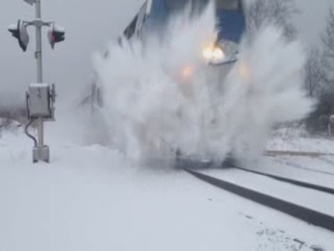 Thumbnail: Norfolk Southern And Amtrak Train Snow Blasts Boy At Crossing