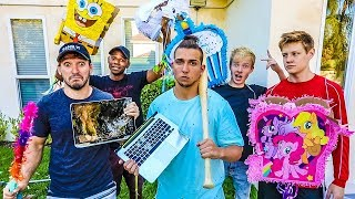 One of Elton Castee's most viewed videos: DESTROYS HIS OWN LAPTOP PRANK! (Gets REALLY Angry)