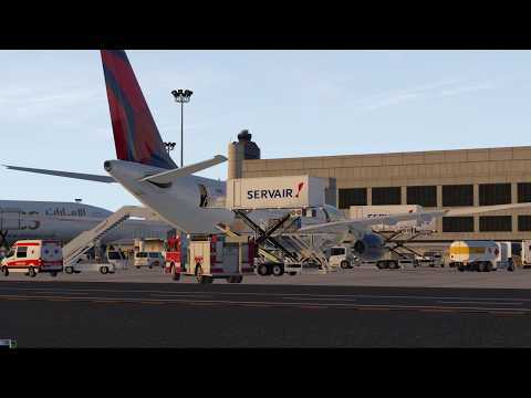 X-Plane 11. Boston Logan International Airport