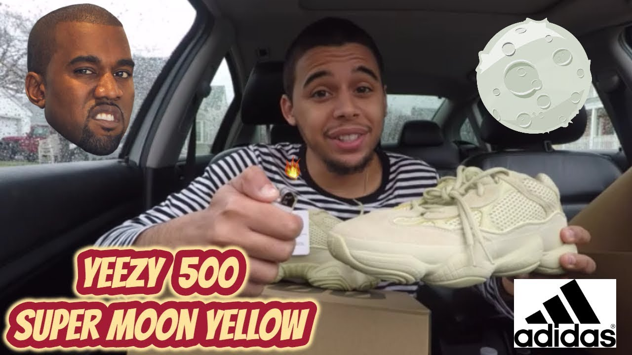cozy fresh 67c2b 13f41 BURNING KANYE WEST YEEZY 500 SUPER MOON YELLOW? (UNBOXING REVIEW)