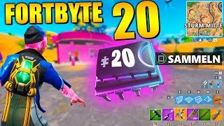 Fortnite Fortbyte 20 ⭕ Storm Center | All Fortbyte Places Season 9 Utopia Skin English