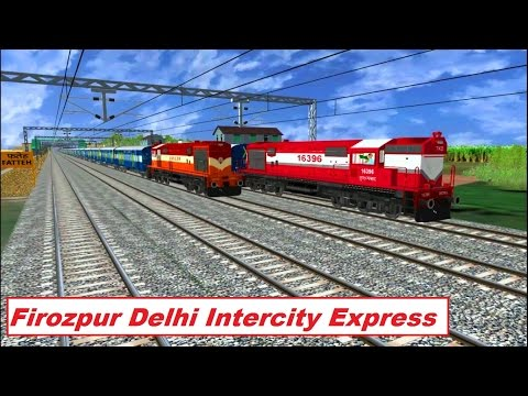 Firozpur Delhi Intercity Part 1 Indian Train Simulator by Sumit Mehrotra
