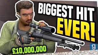 BIGGEST HIT EVER - Gmod DarkRP   Hitman Becomes Rich!