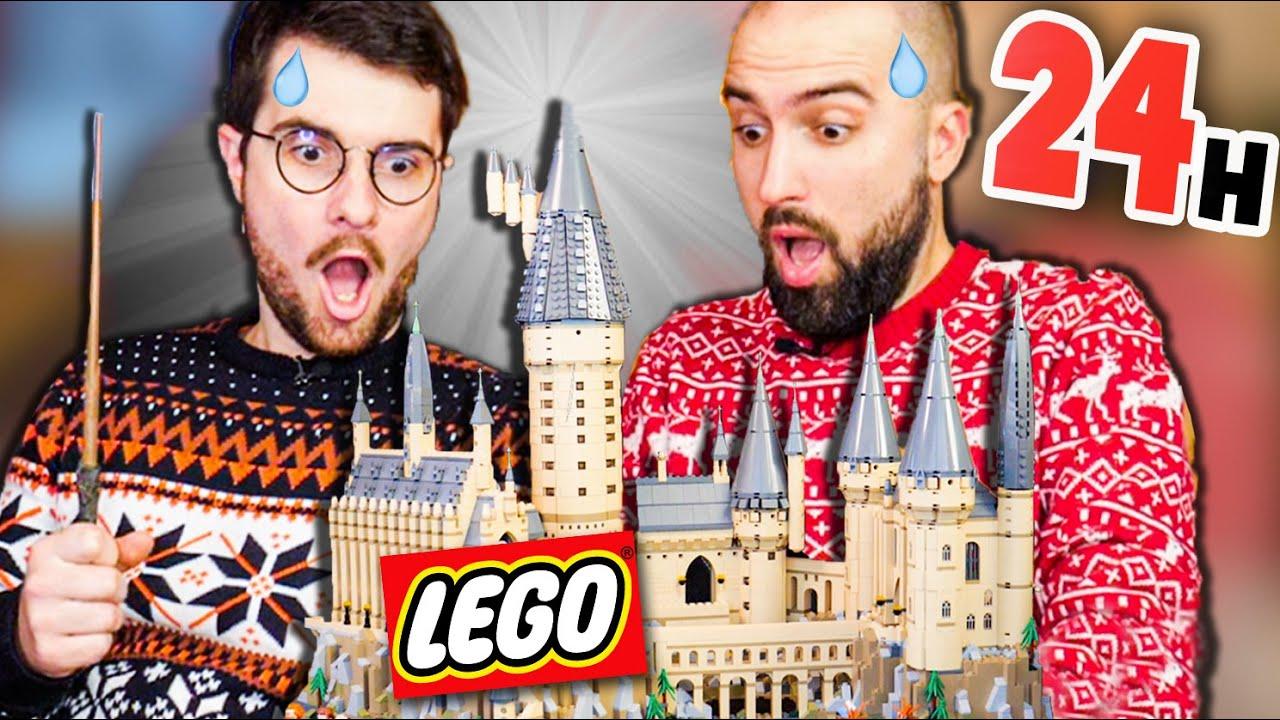 ON A CONSTRUIT POUDLARD LEGO EN 24H ! (Sans dormir) (On s'est décomposé)