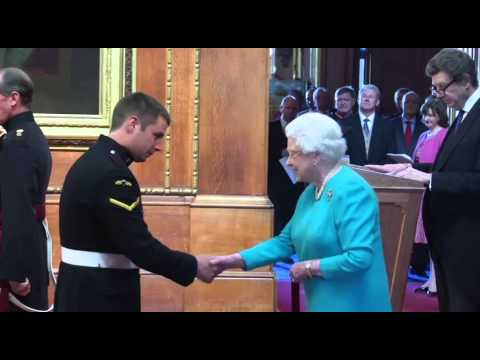 LCpl Joshua Leakey Awarded Victoria Cross by The Queen - 14.04.15