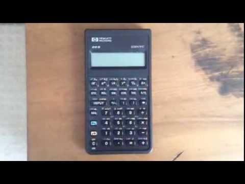 Hewlett-Packard scientific calculator HP 20S