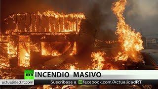 Incendios arrasan 8.000 hectáreas y causan evacuaciones masivas en California