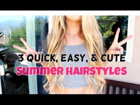 easy summer hair styles 3 easy amp summer hairstyles savannahxoh 3864 | hqdefault