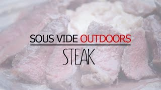 Hickory Smoked Steak Sous Vide With Red Wine Sauce - Sousvide Supreme Outdoors Series