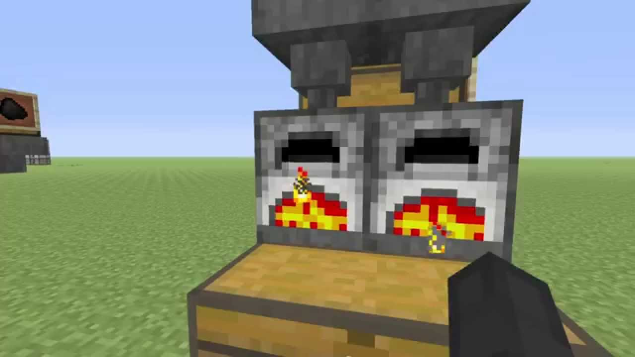 Minecraft - PS4 Automatic Furnace Station - HOW TO ...