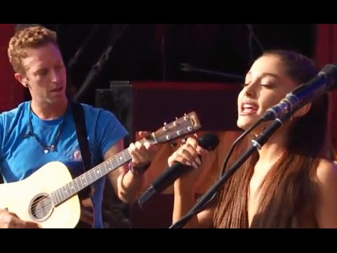 Ariana Grande and Chris Martin sing Just A Little Bit Of Your Heart - Global Citizen Festival