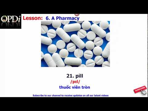 Oxford dictionary | 6. A Pharmacy| Oxford picture dictionary 2nd edition