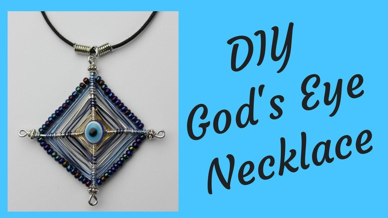 LL Beaded GODS EYE Necklace..