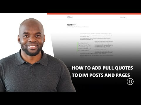How to Add Pull Quotes to Divi Posts and Pages