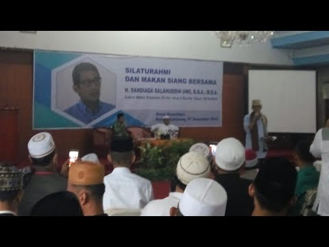 Bincang Santai dan Sapa Milenial Lampung, Sandiaga Uno: Lampung Itu Indah dan Punya Segalanya