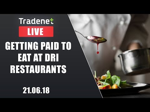 Live Day Trading room streaming - Getting Paid to eat at DRI Restaurants