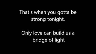Pink - Bridge Of Light (Lyrics)