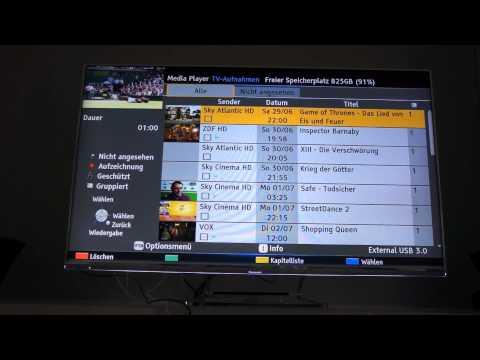 Panasonic Smart Viera TV - Review Aufnahmefunktionen & Senderverwaltung / Favoriten / Kategorien