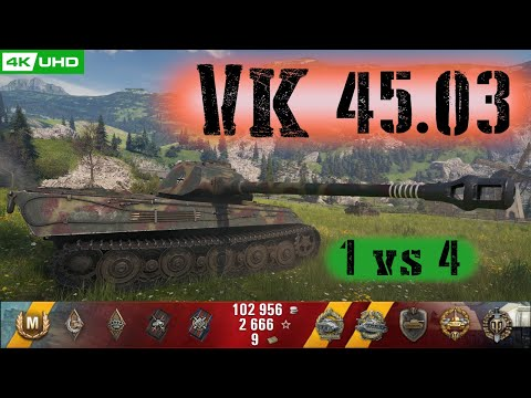 World Of Tanks VK 45.03 Replay - 8 Kills 3.4K DMG(Patch 1.6.0)