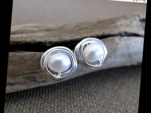 Stud Earrings - Elegant Post Studs - Pearl, Ball end, Sterling Silver Studs