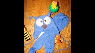 Шарф спицами-с узором маленькая сова.Полая резинка.Knitting lessons №2.Шарф-СОВА