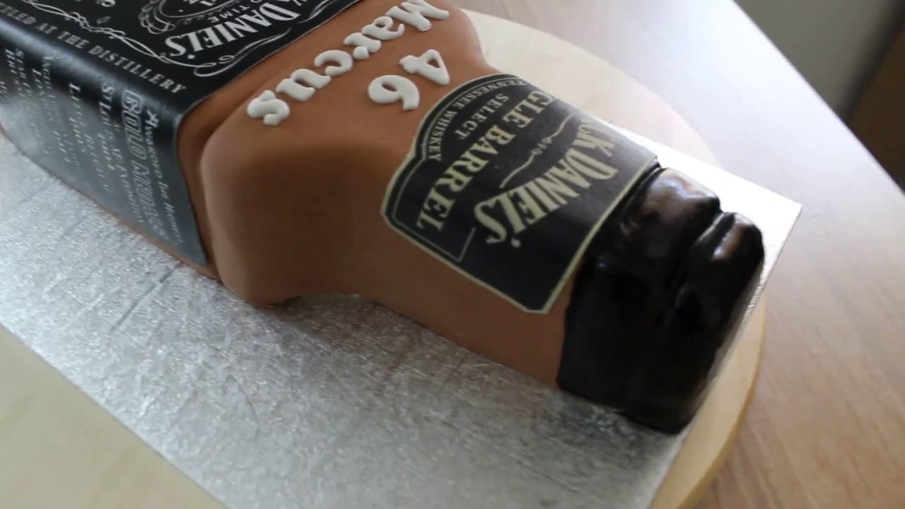 Jack Daniels Flaschen Torte Mit Original Label Cake Jack Daniels