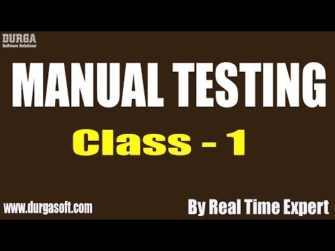 Manual Testing tutorial || Class - 1 || by Real Time Expert on 02-12-2019 thumbnail