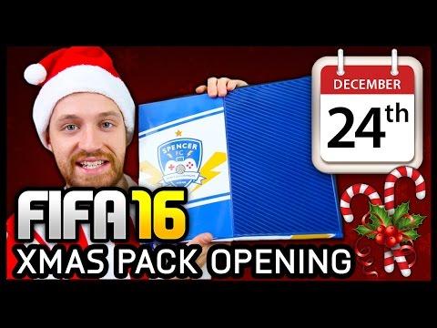 XMAS ADVENT CALENDAR PACK OPENING #24 - FIFA 16 ULTIMATE TEAM