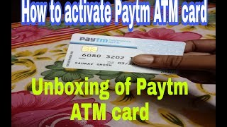 #paytm atm card||how to activate||Paytm ATM card charges||in hindi||