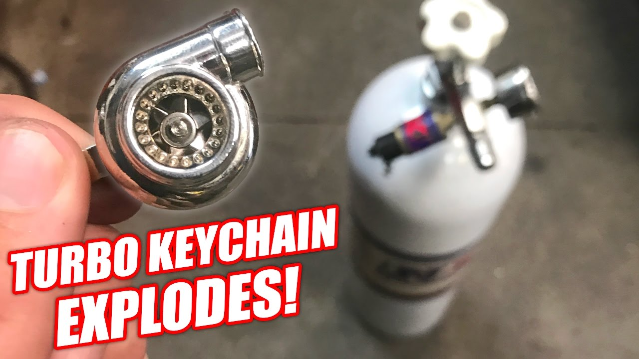 Turbo Keychain vs  850psi (Didn't End Well)
