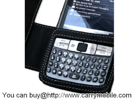 Carrymobile Leather Case for Samsung AT&T SGH-i907 Epix - Book Type (Black)