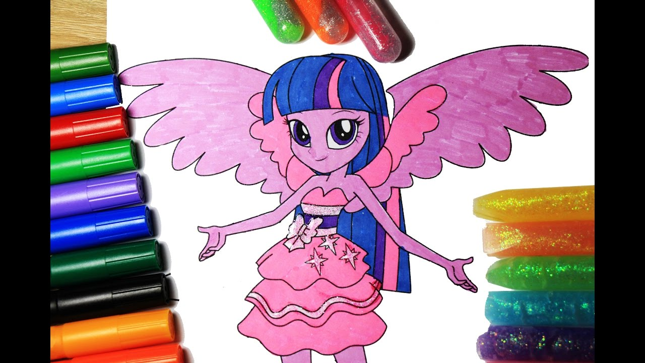 my little pony coloring book twilight sparkle equestria girls