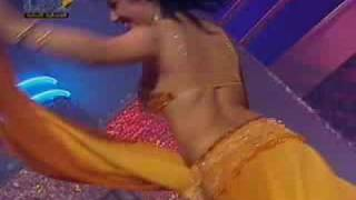 Arabian lady dancing in Arabian tune. Arab music. Lovely Arabian dance