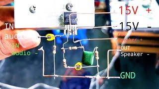 How To Make TDA2030A Amplifier 35W Audio  Single with Circuit