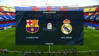 Barcelona vs Real Madrid - La Liga 24 October 2020 Gameplay