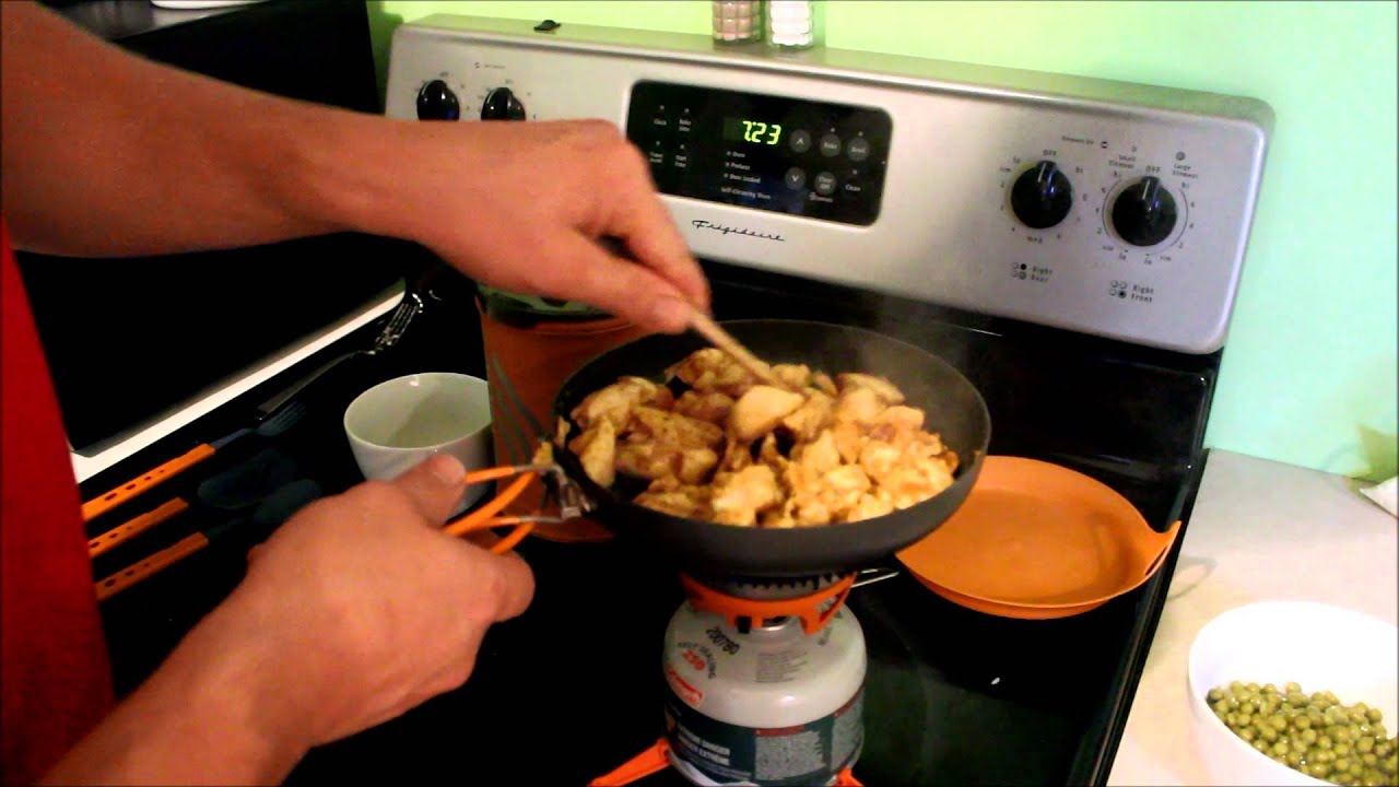 Jetboil Sumo Frypan Utensils Cooking Chicken Curry Review