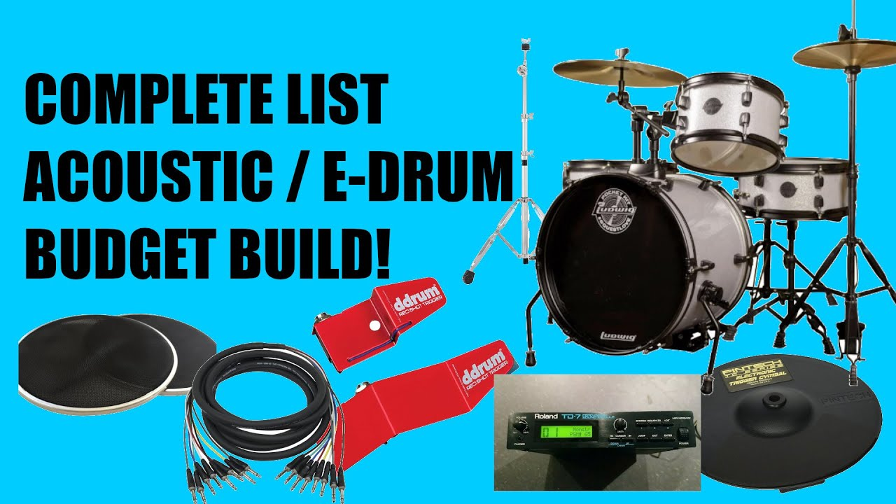 Budget Full Acoustic to Electronic Drum Conversion DIY Project Under $1000 Full Kit w Roland Module!