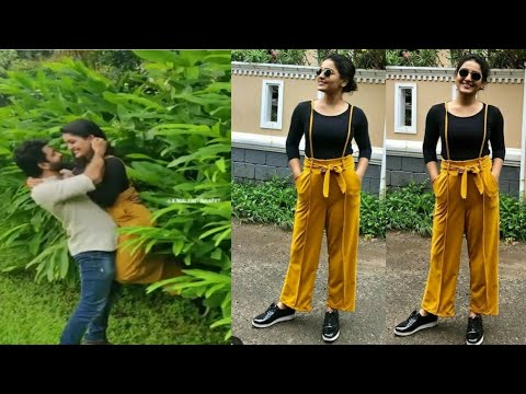 Saniya iyappan hugging a boy | making video | photoshoot