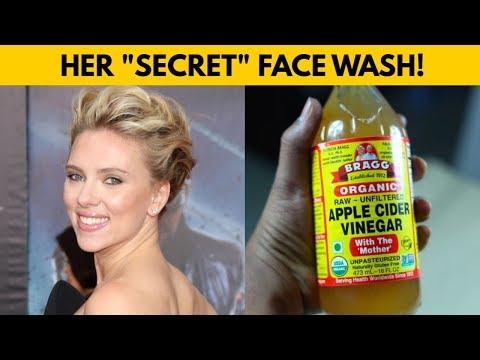 "😱scarlet-johansson's-""secret""-apple-cider-vinegar-face-wash-recipe---apple-cider-vinegar-for-face"