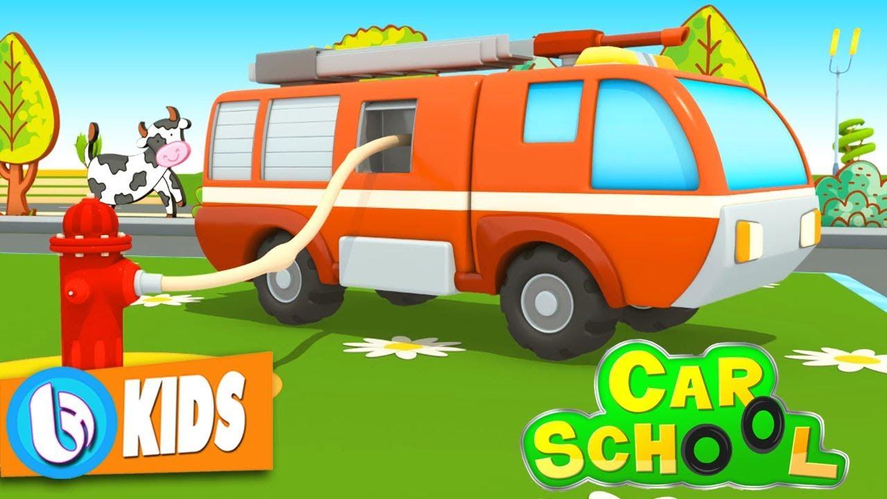 Car School – Lớp Học Xe Cứu Hỏa – Hoạt Hình Xe Oto 3D Tiếng Anh Cho Trẻ Em