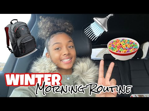 Winter School Morning Routine - Vlogmas Day 3 | LexiVee03