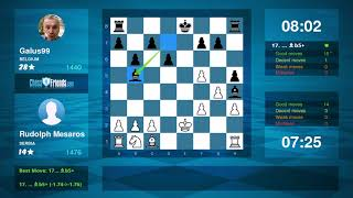 Chess Game Analysis: Rudolph Mesaros - Galus99 : 1/2-1/2 (By ChessFriends.com)