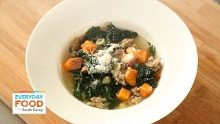 Sweet Potato Soup With Sausage And Greens - Everyday Food With Sarah Carey