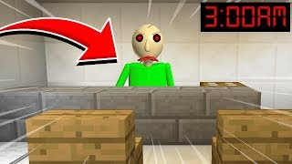 Minecraft : DO NOT PLAY WITH BALDI AT 3AM! (Ps3/Xbox360/PS4/XboxOne/PE/MCPE)