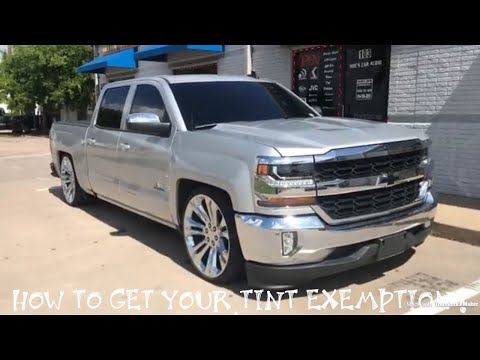 What it's like with limo tint 5% on all windows? How to get your tint exemption 😎