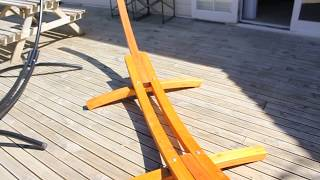 Wooden Hammock Stand - Russian Pine - Arc Design
