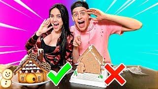Namorado Vs Namorada : Quem Construiu A Melhor Casa De Doce Pro Natal !!!  ‹ Jonvlogs ›