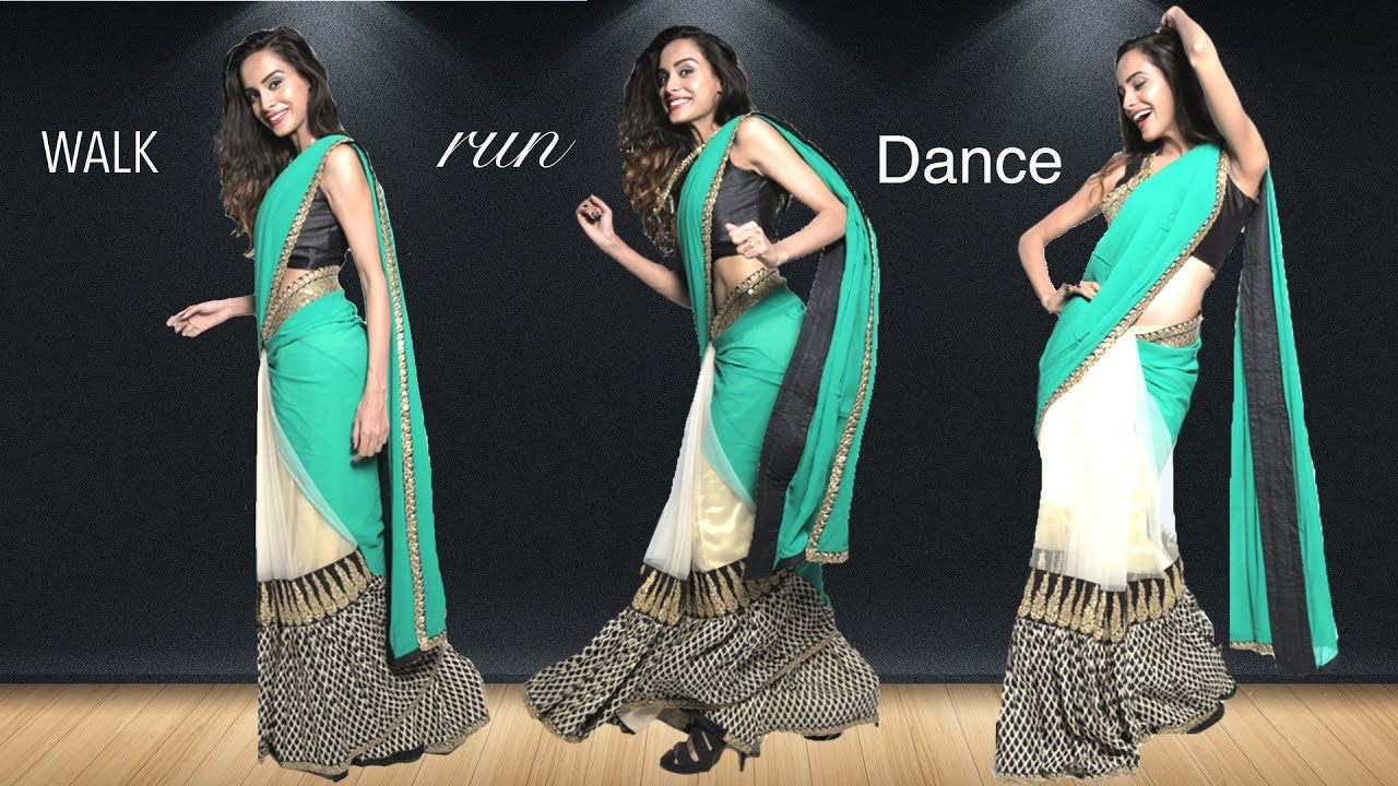 Attractive How To Walk, Run And Dance In A Saree!   Saree Draping Hacks   YouTube Amazing Pictures