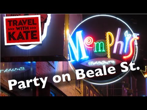 Beale St in Memphis, TN on Travel with Kate