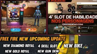 FREE FIRE - UPCOMING AUGUST 2019 UPDATE- NEW DIAMOND ROYAL, UPGRADE CHARACTER SKILL SLOT